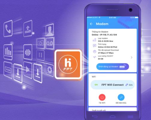 Hi FPT 5.0 - Tiện ích quản lý, thanh toán online tiện lợi