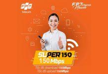 Gói internet Super 150 FPT Telecom