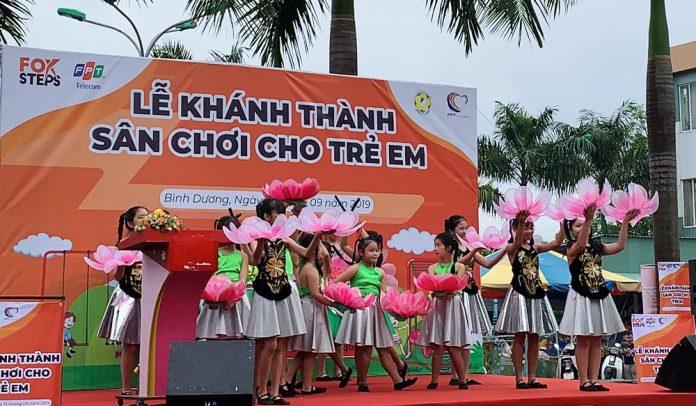 FPT Telecom Bình Dương khánh thành sân chơi dành cho thiếu nhi