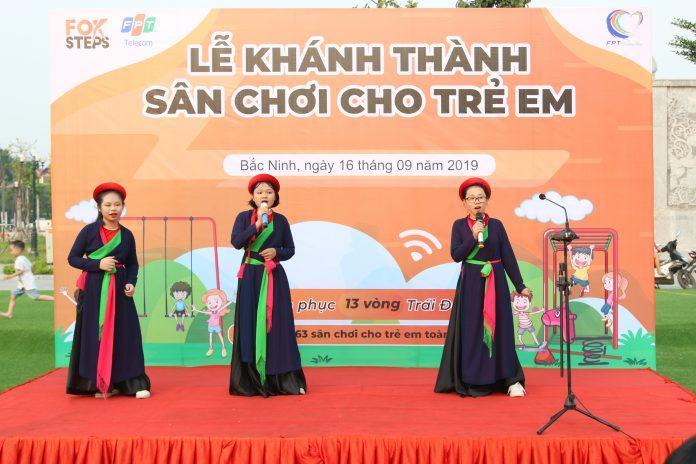FPT Telecom Bắc Ninh khánh thành sân chơi thiếu nhi