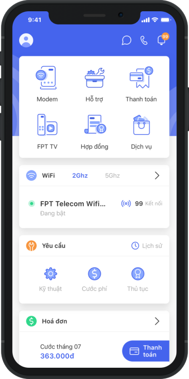 Hi FPT 5.0 thêm tính năng điều khiển Wi-Fi từ xa