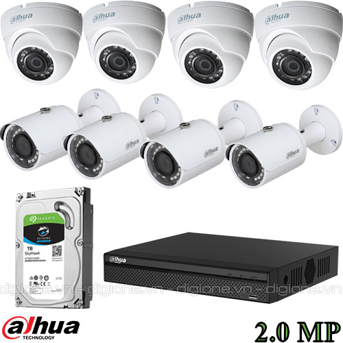 Lắp đặt 8 camera FPT HD