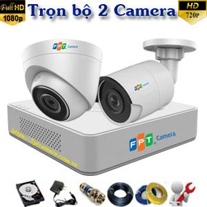 Lắp 2 camera FPT HD