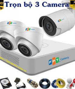 Lắp 3 camera FPT HD