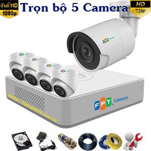 Lắp 5 camera FPT HD